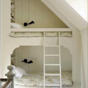 スペースを有効活用している子供用ベッド