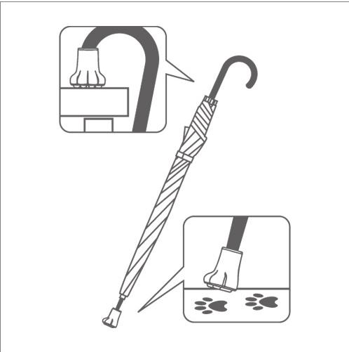 傘キャップ使い方