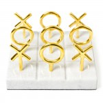 なにやら高級なマルバツゲーム[Jonathan Adler design Brass Tic Tac Toe Set]